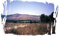 Mount Gilboa - where King Saul died